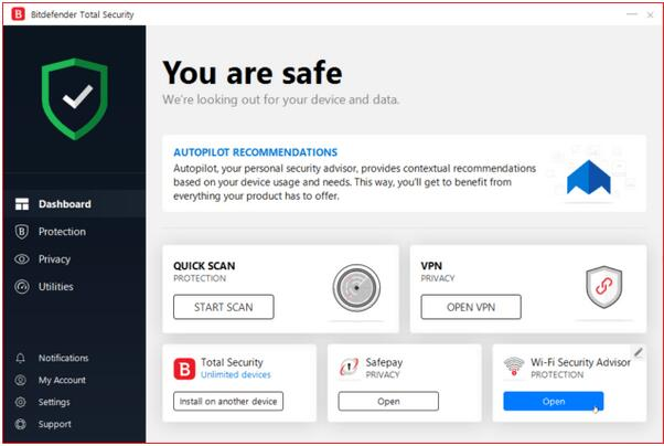 Bitdefender Total Security(电脑杀毒软件) v22.0.21.297破解版