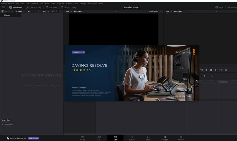 达芬奇调色软件16(DaVinci Resolve Studio) v16.2.5.15破解版 附安装教程